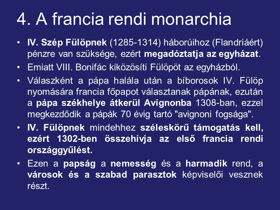 4. A francia rendi monarchia