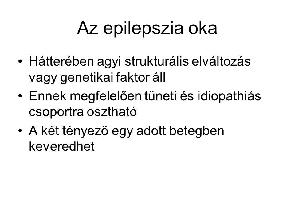Az epilepszia oka Hátterében agyi strukturális elváltozás vagy genetikai faktor áll. Ennek megfelelően tüneti és idiopathiás csoportra osztható.