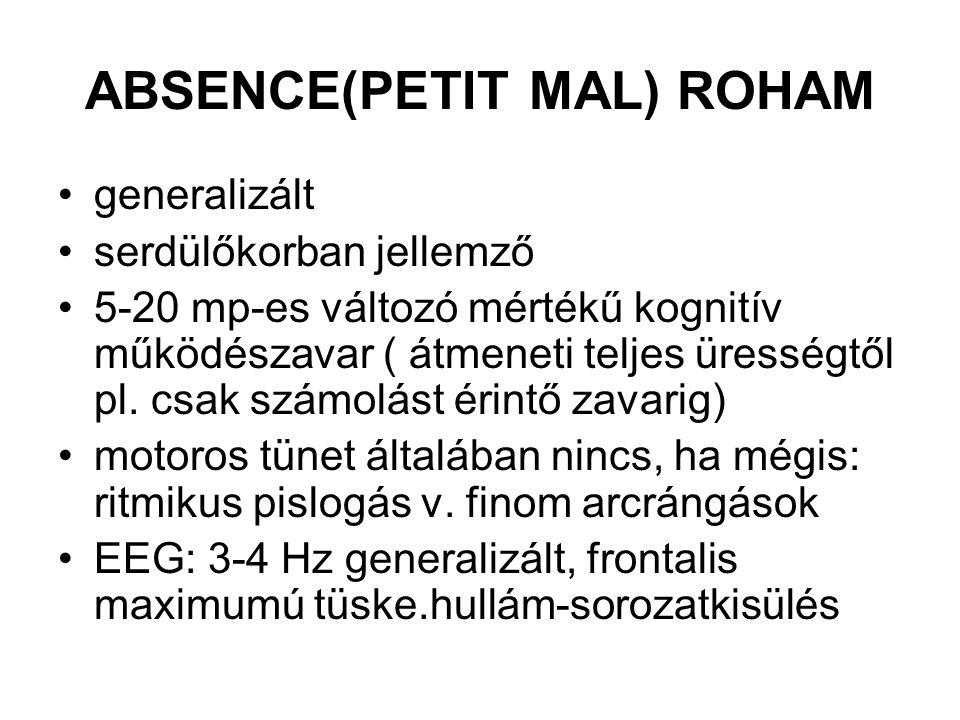 ABSENCE(PETIT MAL) ROHAM