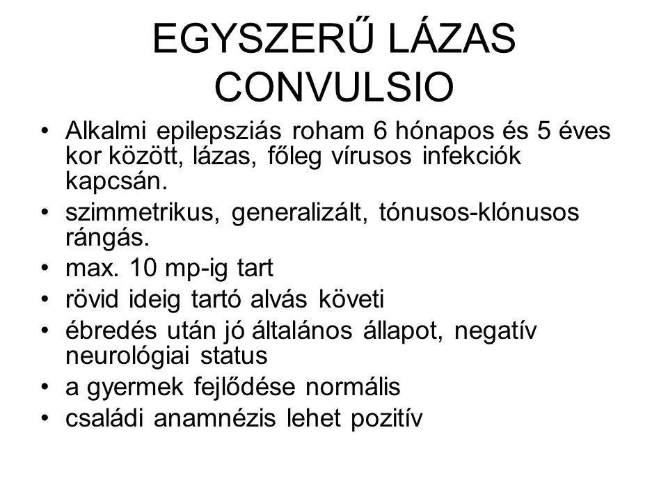 EGYSZERŰ LÁZAS CONVULSIO
