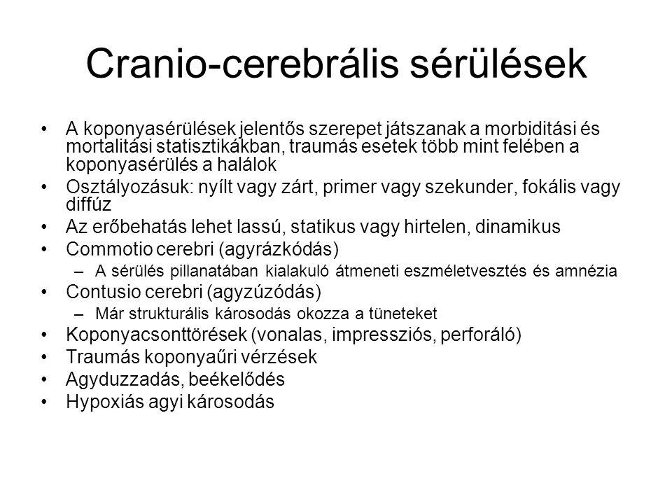 Cranio-cerebrális sérülések