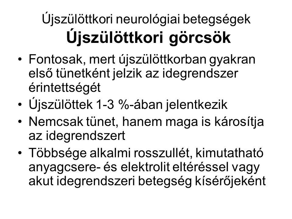 Újszülöttkori neurológiai betegségek Újszülöttkori görcsök