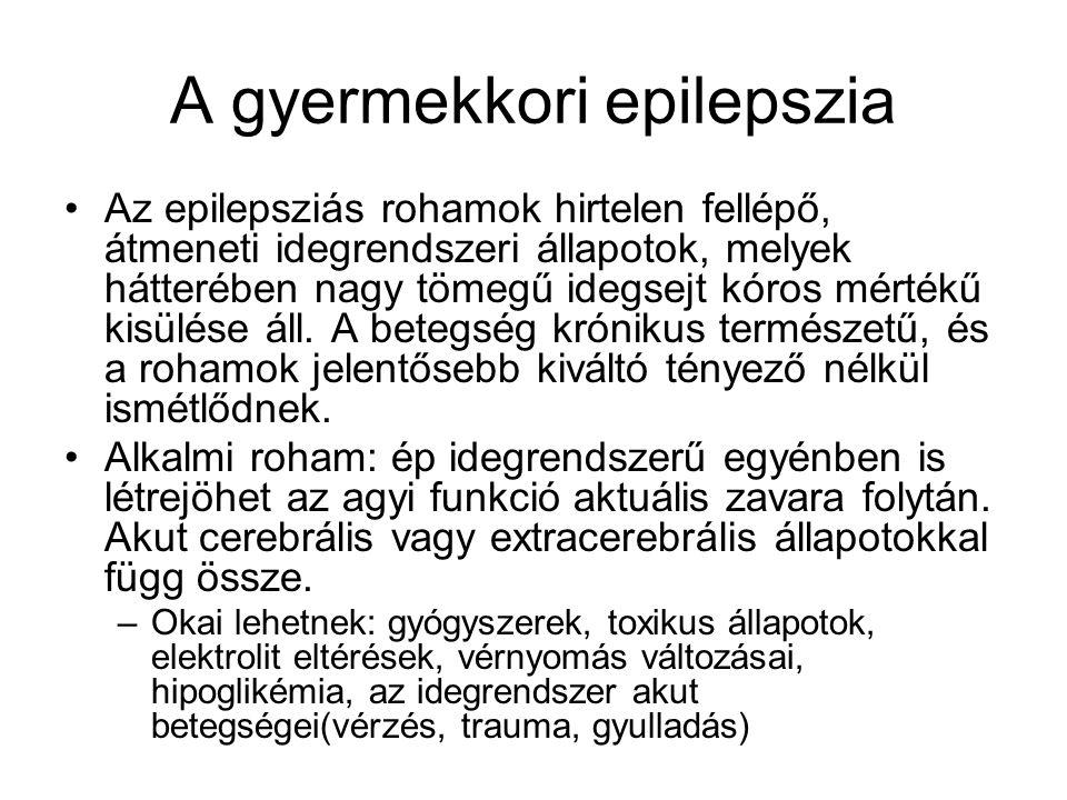 A gyermekkori epilepszia
