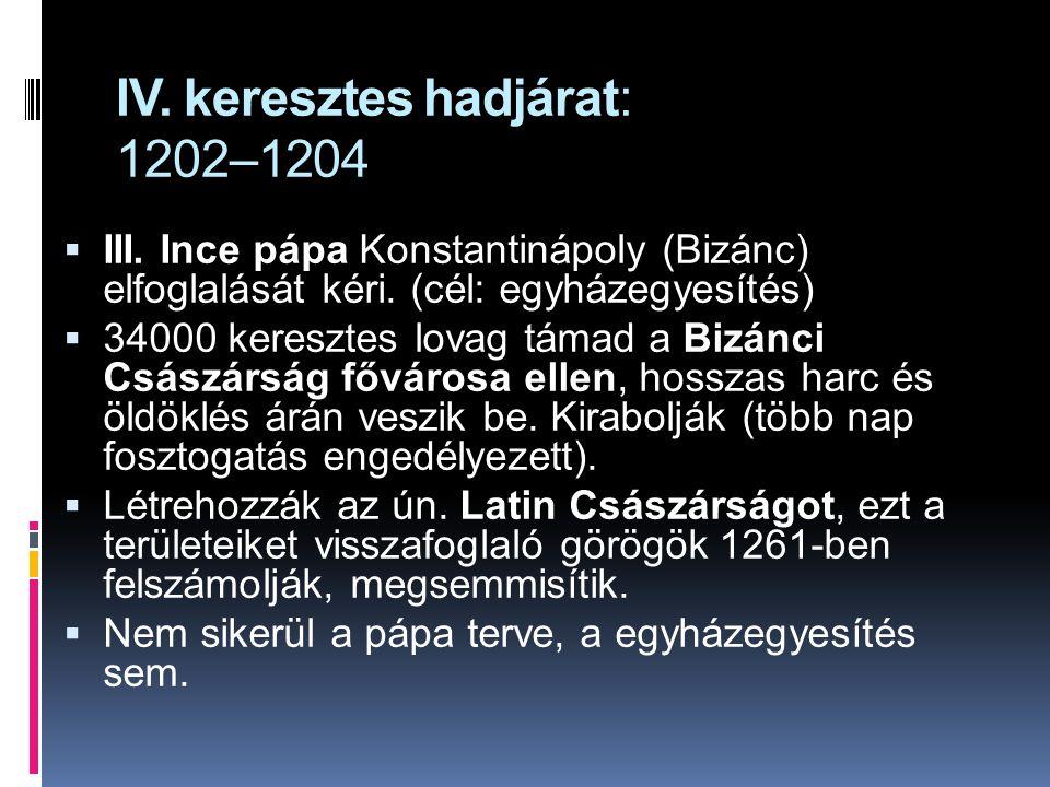 IV. keresztes hadjárat: 1202–1204