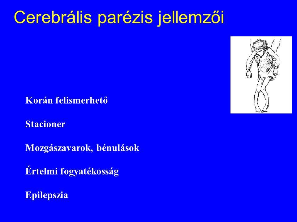 Cerebrális parézis jellemzői