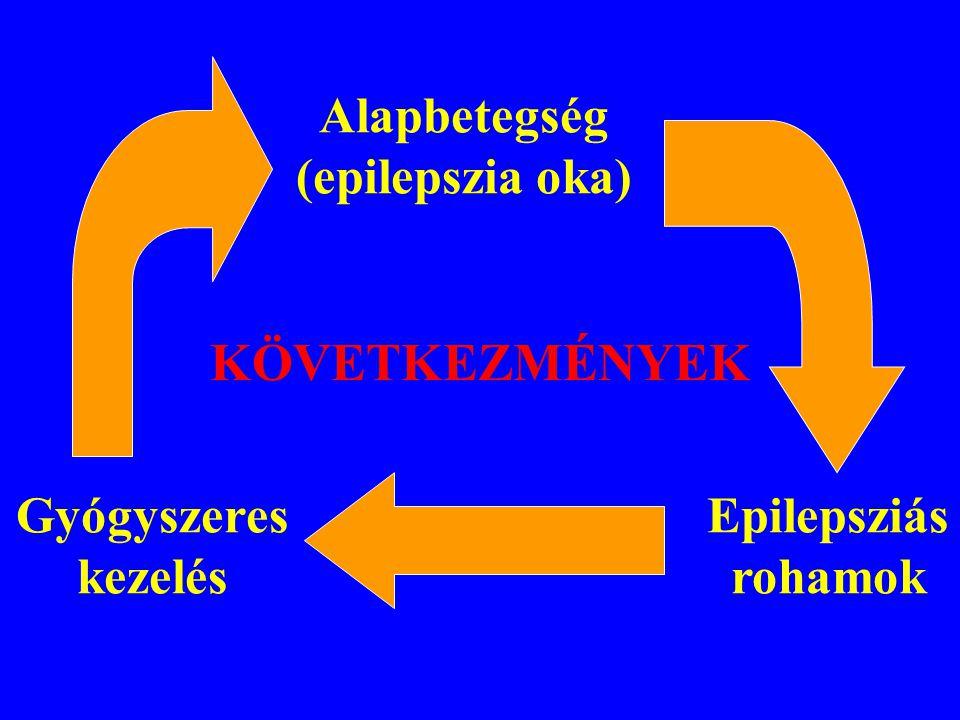 KÖVETKEZMÉNYEK Alapbetegség (epilepszia oka) Gyógyszeres kezelés