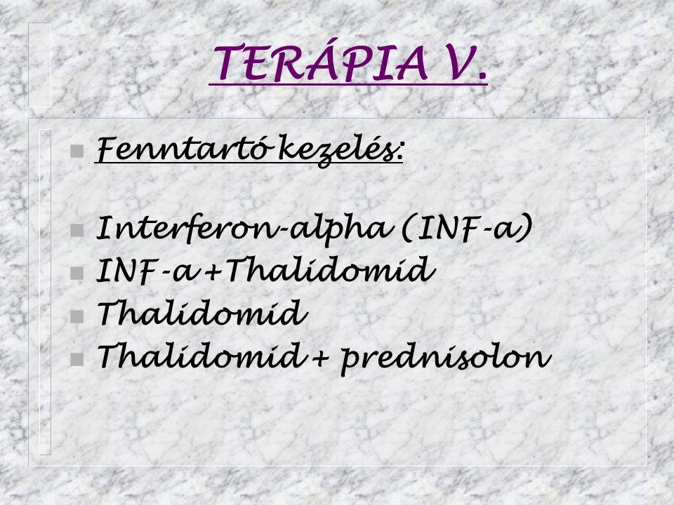 TERÁPIA V. Fenntartó kezelés: Interferon-alpha (INF-a)