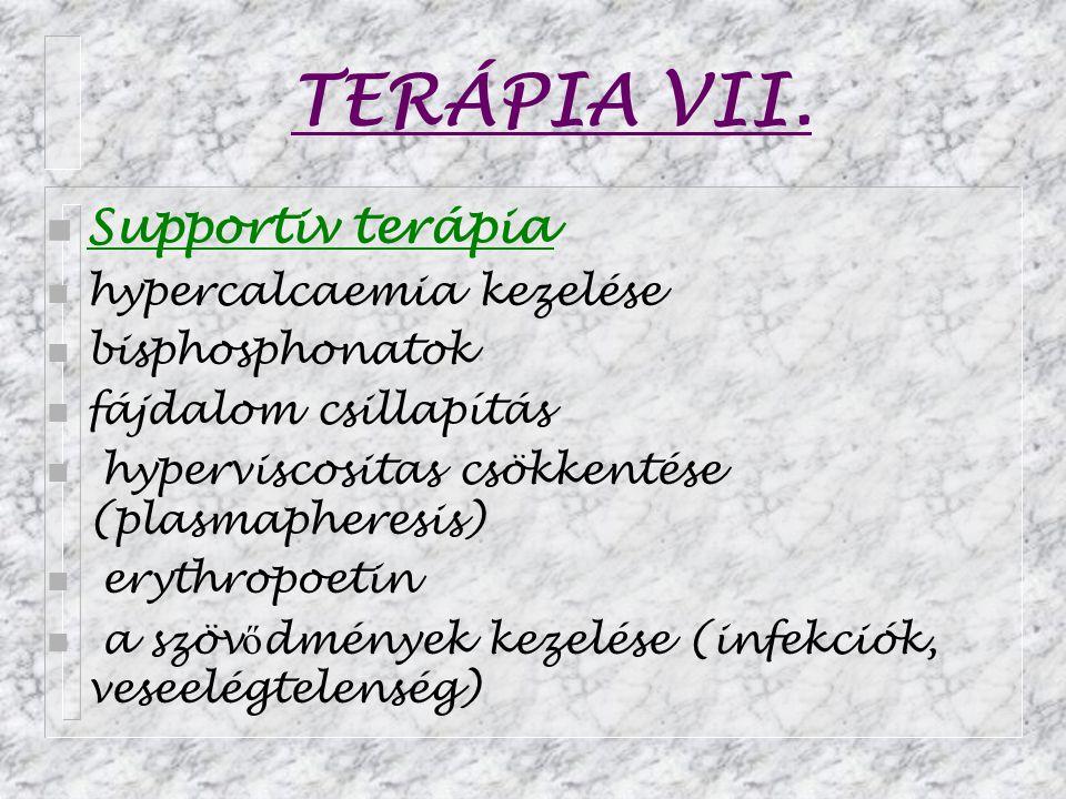 TERÁPIA VII. Supportiv terápia hypercalcaemia kezelése bisphosphonatok