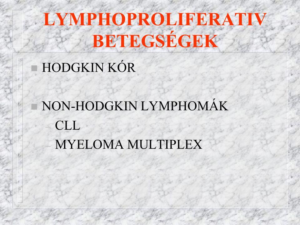 LYMPHOPROLIFERATIV BETEGSÉGEK
