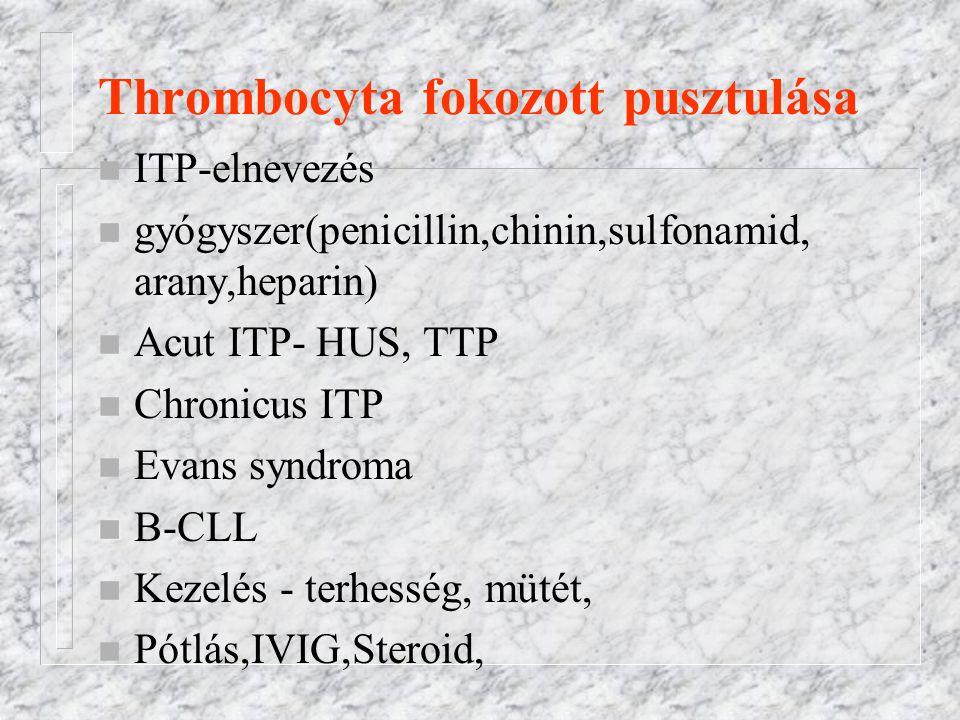 Thrombocyta fokozott pusztulása
