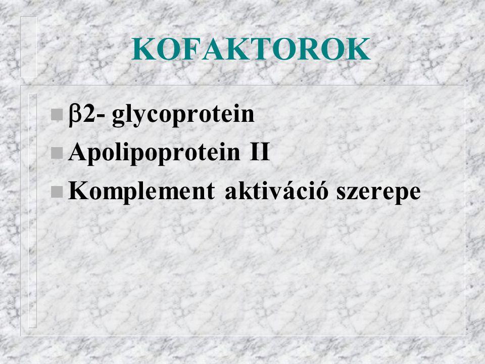 KOFAKTOROK 2- glycoprotein Apolipoprotein II