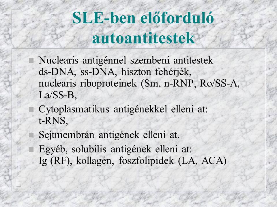 SLE-ben előforduló autoantitestek
