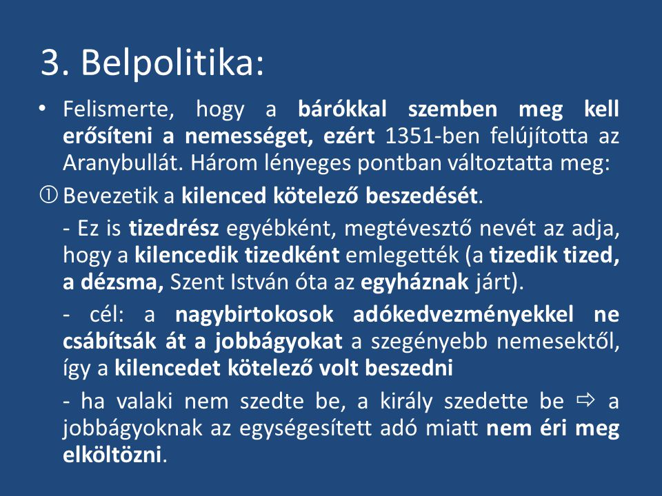 3. Belpolitika: