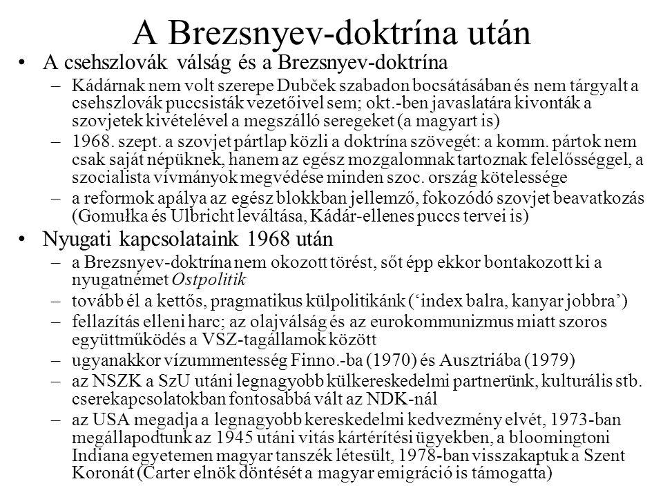 A Brezsnyev-doktrína után
