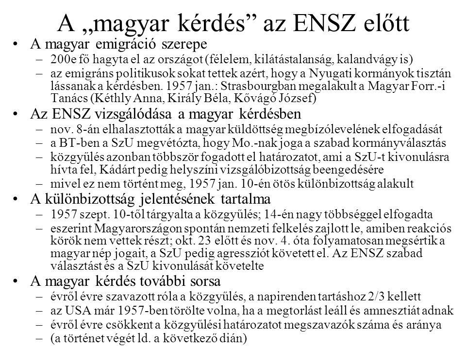 """A """"magyar kérdés az ENSZ előtt"""