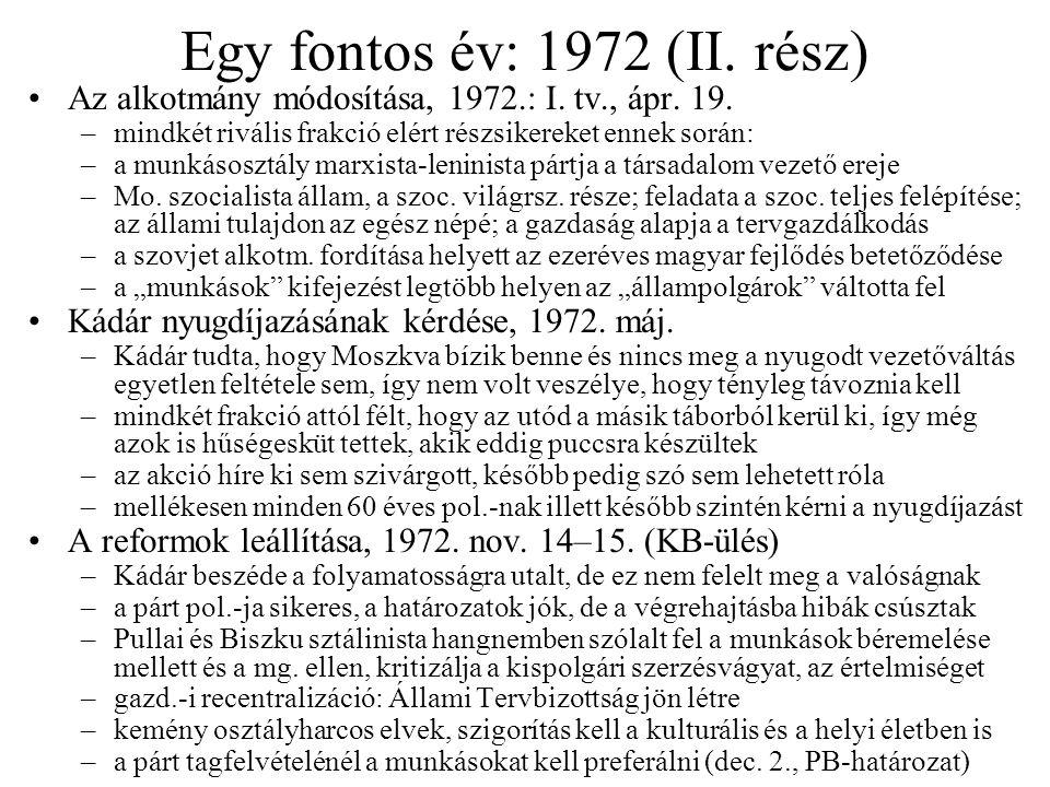 Egy fontos év: 1972 (II. rész)