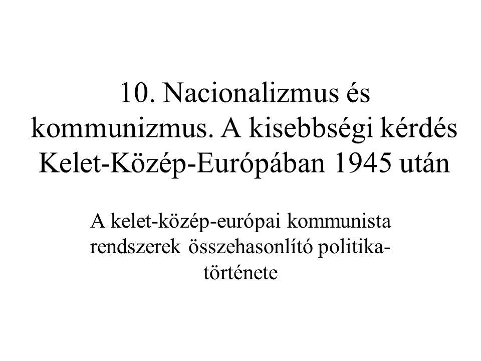 10. Nacionalizmus és kommunizmus