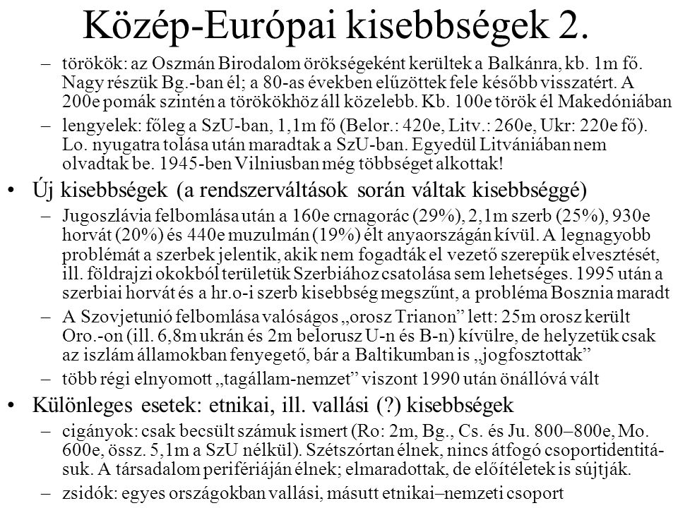 Közép-Európai kisebbségek 2.
