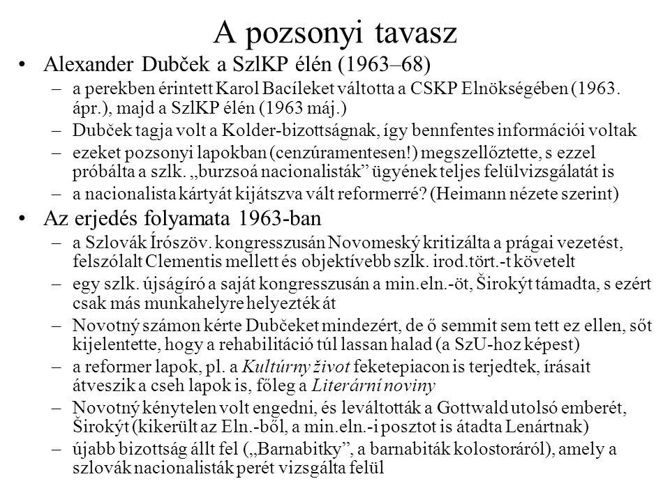 A pozsonyi tavasz Alexander Dubček a SzlKP élén (1963–68)