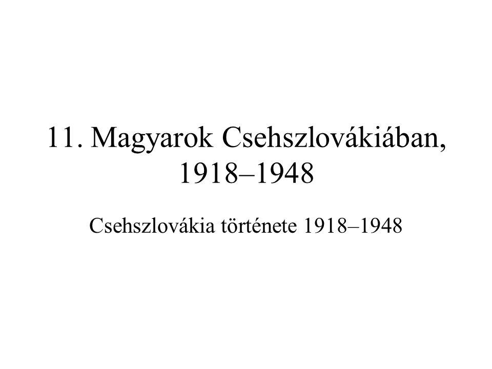 11. Magyarok Csehszlovákiában, 1918–1948