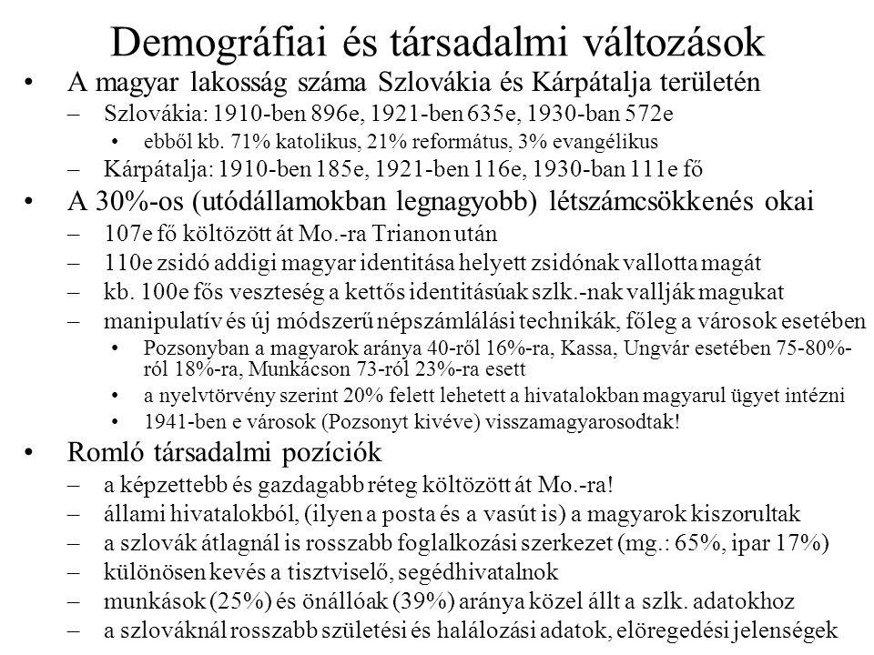 Demográfiai és társadalmi változások