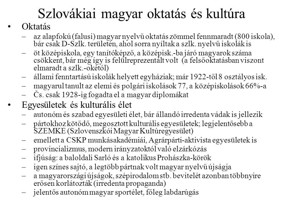 Szlovákiai magyar oktatás és kultúra
