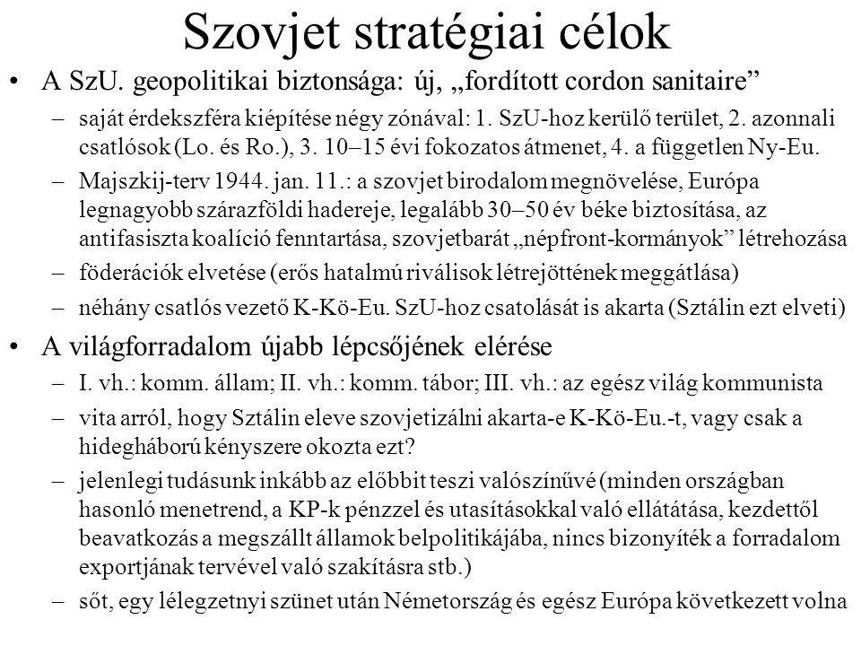Szovjet stratégiai célok