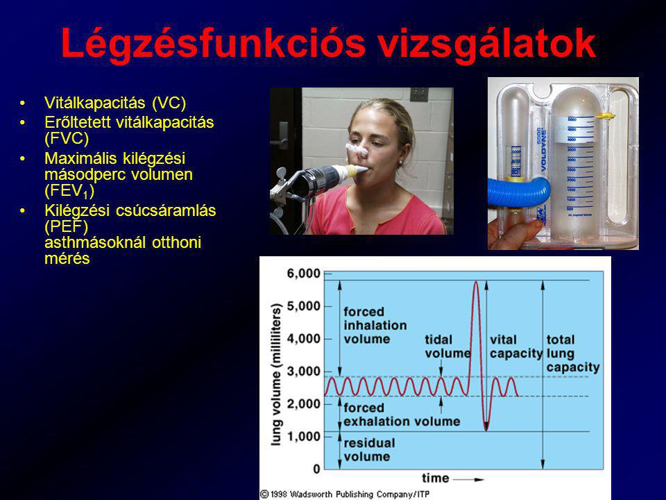 Légzésfunkciós vizsgálatok