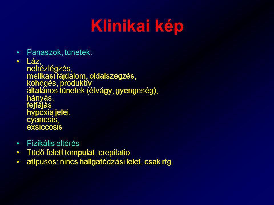 Klinikai kép Panaszok, tünetek: