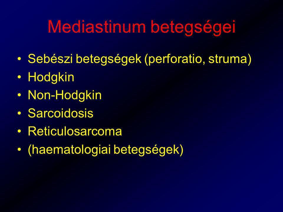 Mediastinum betegségei