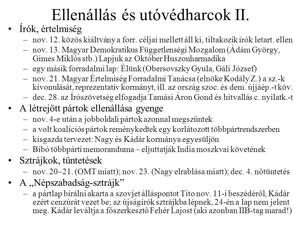 Ellenállás és utóvédharcok II.