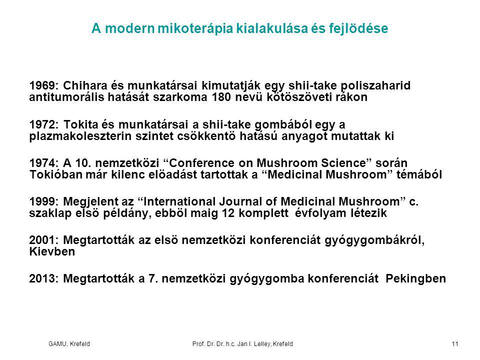A modern mikoterápia kialakulása és fejlödése