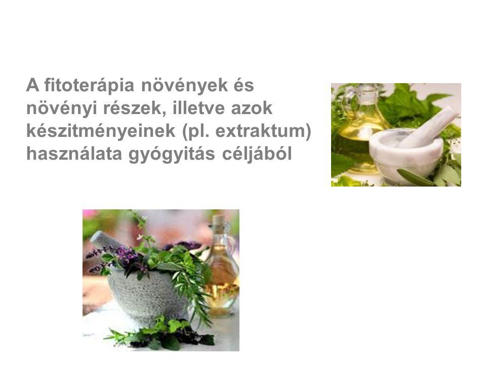 A fitoterápia növények és