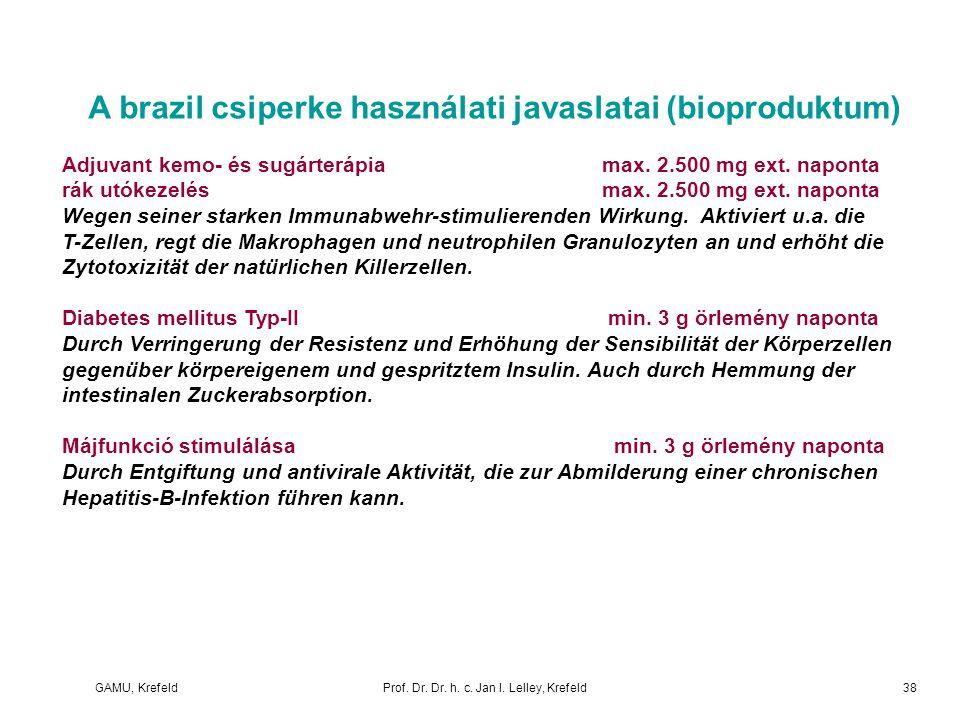 A brazil csiperke használati javaslatai (bioproduktum)