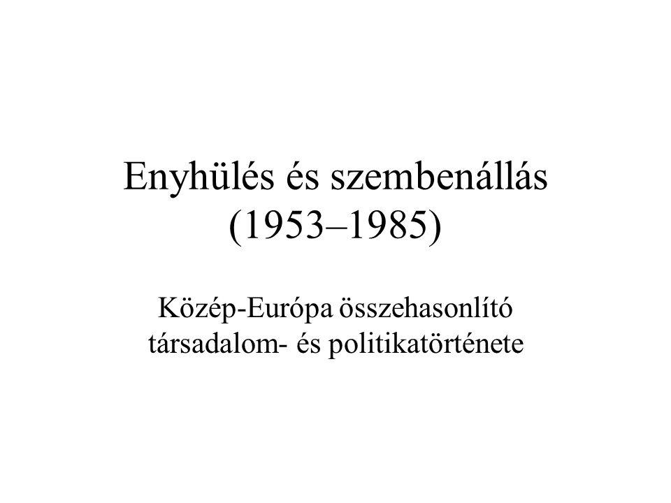 Enyhülés és szembenállás (1953–1985)