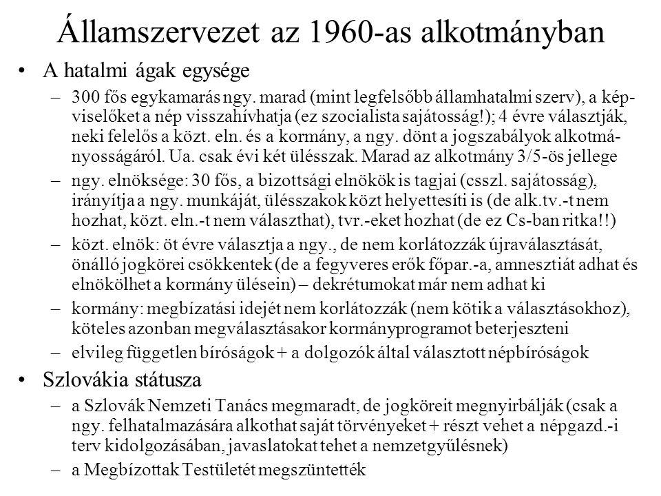 Államszervezet az 1960-as alkotmányban