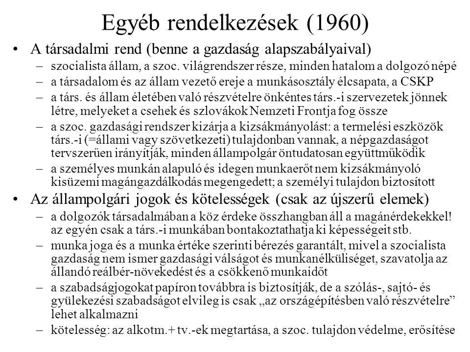 Egyéb rendelkezések (1960)