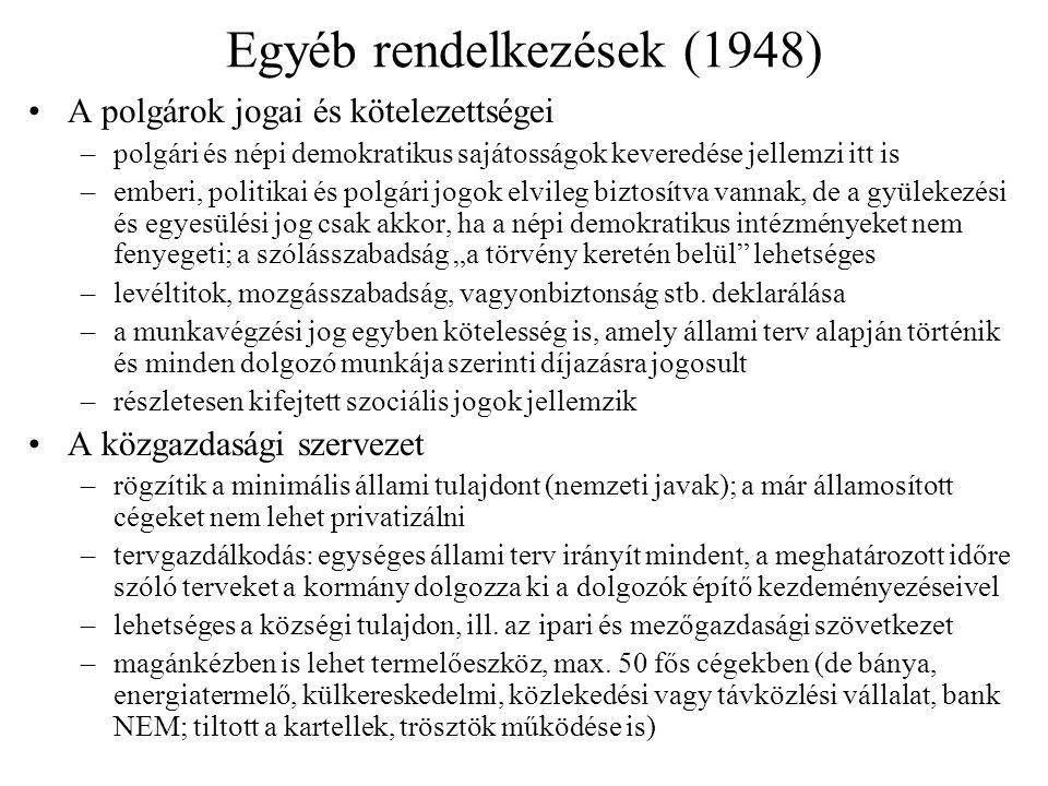 Egyéb rendelkezések (1948)