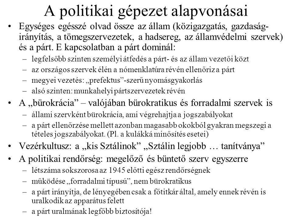 A politikai gépezet alapvonásai