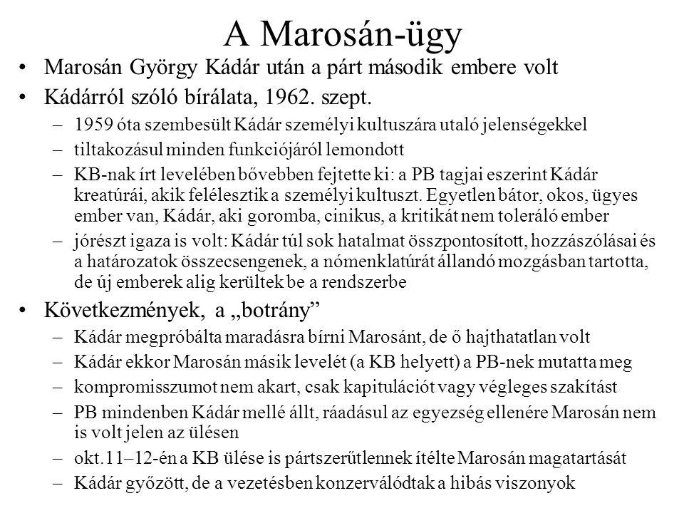 A Marosán-ügy Marosán György Kádár után a párt második embere volt