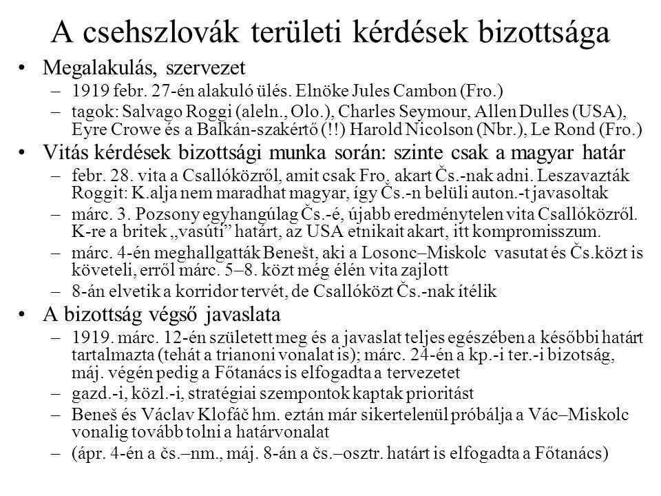 A csehszlovák területi kérdések bizottsága