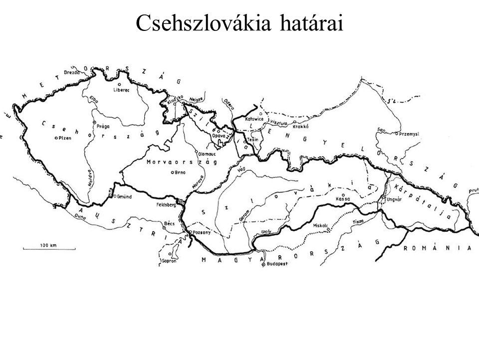 Csehszlovákia határai