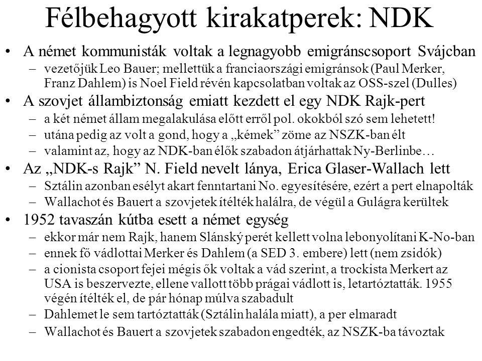 Félbehagyott kirakatperek: NDK