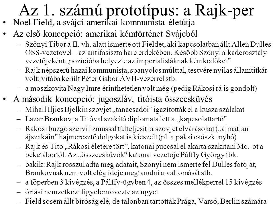 Az 1. számú prototípus: a Rajk-per