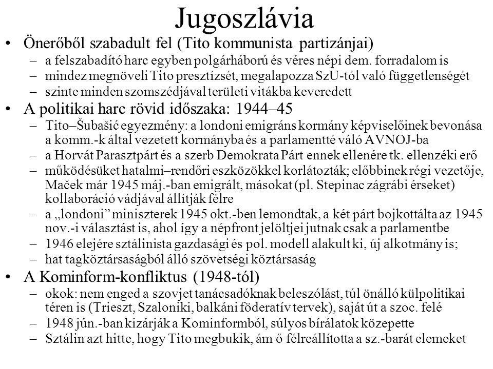 Jugoszlávia Önerőből szabadult fel (Tito kommunista partizánjai)