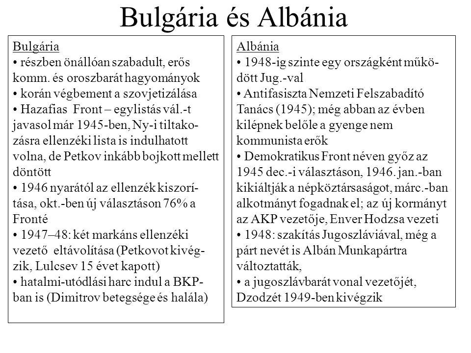 Bulgária és Albánia Bulgária