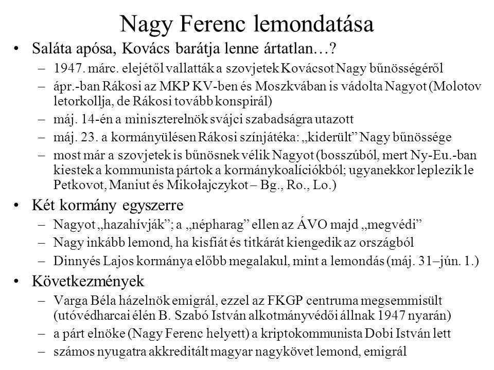 Nagy Ferenc lemondatása