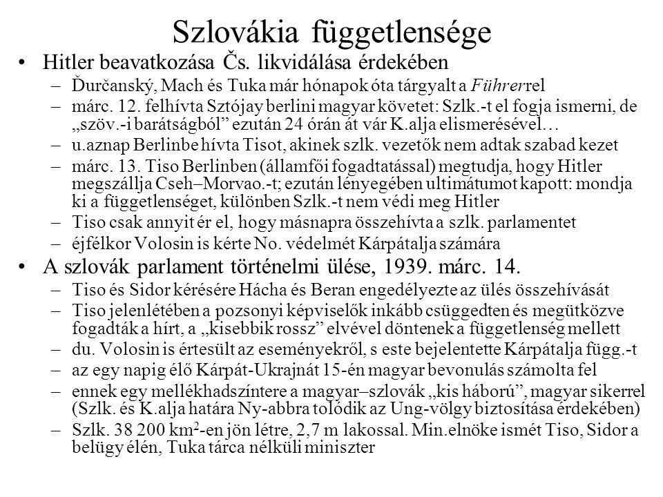 Szlovákia függetlensége