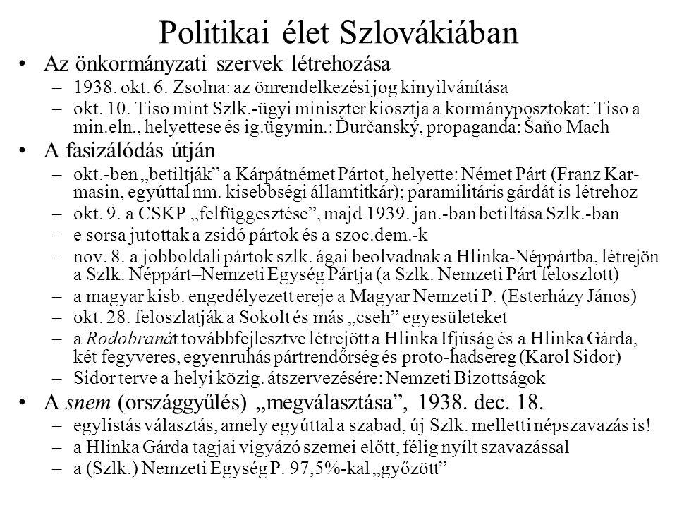 Politikai élet Szlovákiában