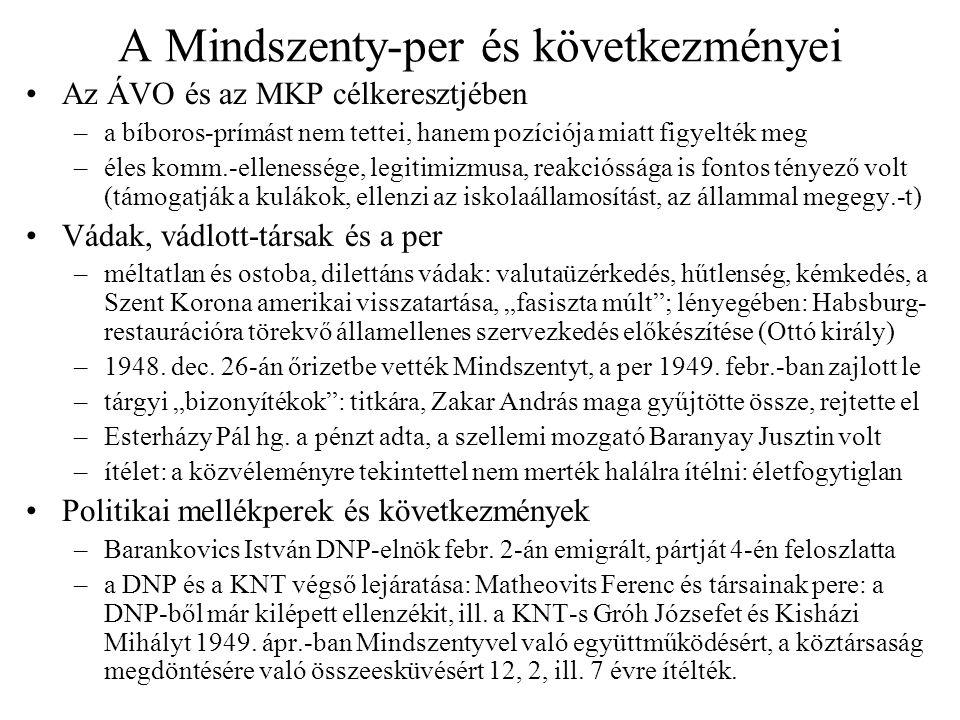 A Mindszenty-per és következményei